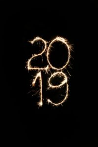 Happy New Year 2019 text png