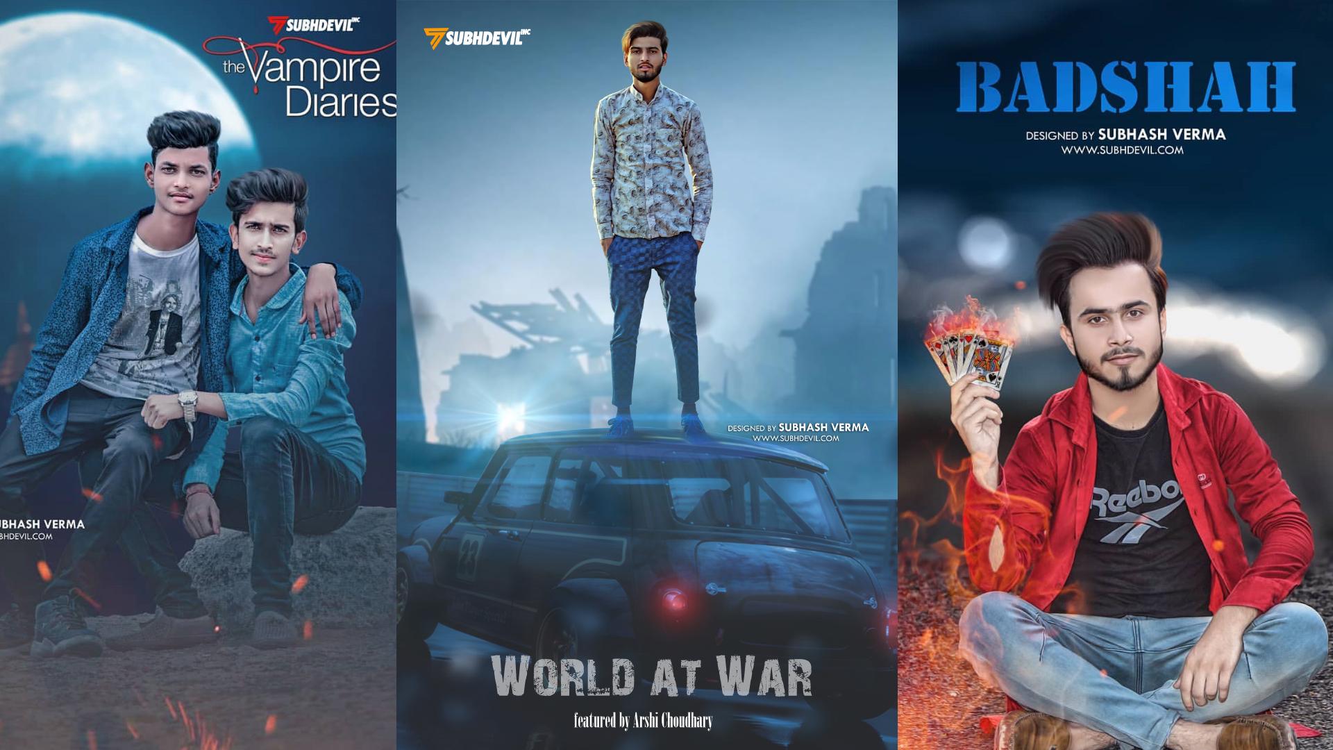 World at war Picsart Movie Poster Editing 2019 | Picsart Photo Editing Tutorial by Subh devil