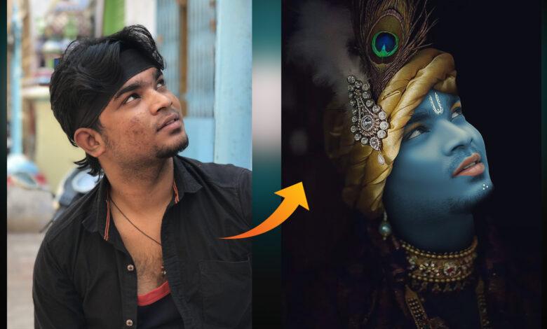 Jay shree Krishna photo editing tutorial in picsart & Lightroom | shri krishan Creative editing